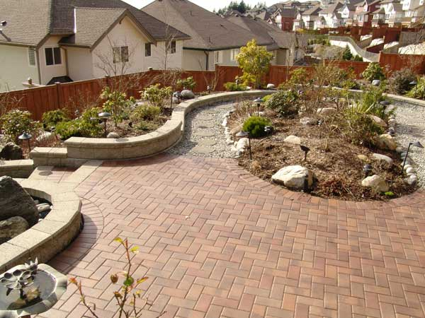 the retaining walls allow water runoff to flow to the lowest point in