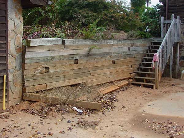 49 all wood walls fail or simply deteriorate replacing with another wood build a timber retaining wall mitre10 ask home design - Timber Retaining Wall Design